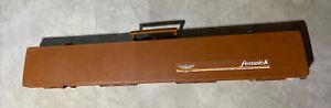 Vintage Fenwick Woodstream Fishing Fly Rod Carrying Case Hard Side Brown RARE