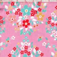 PINK,  FORGET ME NOT Main Cotton Print by RILEY BLAKE BTY