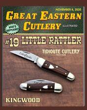 """Great Eastern Cutlery Knife- {Tidioute} #19 Little Rattler - Kingwood - 2.8"""""""