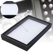 Black 100 Slots Storage Display Box White Tray Jewelry Organizer Holder Case #M
