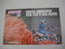 advertising Pubblicità 1989 MOTO CAGIVA COCIS 50