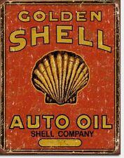 Shell Deko Werkstatt Oldtimer Werkstatt Historische Werbung Blechschild *337