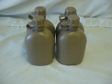 NEW, US MILITARY 1 QT PLASTIC CANTEEN, COYOTE TAN, 4 PACK