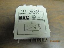 Bbc Brown Boveri Input Module Gh-R521-0000-Vo