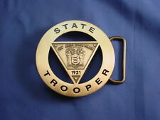 NJSP - NEW JERSEY STATE POLICE BRASS BUCKLE  NEW FOP, PBA NJSP BADGE