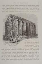 1875-ROMA-ACQUEDOTTO ROMANO-INCISIONE ORIGINALE-Picturesque Europe
