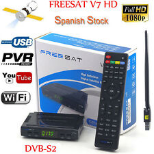 Freesat V7 HD DVB-S2 1080p Satellite TV Receiver box  + USB WIfi support Youtube
