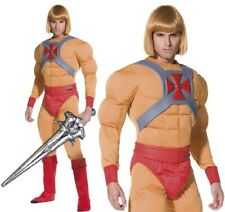 Mens Licensed He-Man Fancy Dress Costume Padded He Man Muscle by Smiffys