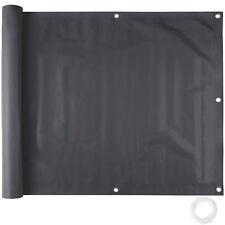 Rivestimento schermante per balcone frangivista telo schermante 0,75x6m nero nuo