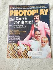 VINTAGE FEB 1973 PHOTOPLAY MAGAZINE SONNY & CHER FIGHTING ON COVER