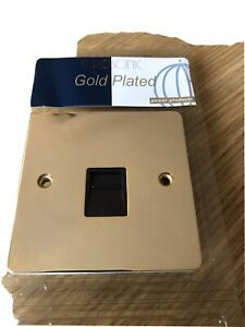 Telephone Master BT Phone Wall Socket Insert Gold Plated New