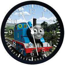 Thomas Train Black Frame Wall Clock Nice For Decor or Gifts E140