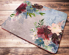FLORAL Watercolor Mouse Pad Office Desk Accessories Decor Supplies Gift Women