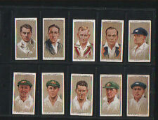 cigarette cards cricketers cricket 1934 full set