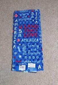 New Celebrate Americana Together Patriotic USA Stars and Stripes Bath Hand Towel
