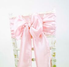 TAFFETA CHAIR SASHES / MATCHING TABLE RUNNERS WEDDING DECOR EVENTS 49 COLOURS