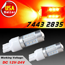 2x 7443/7440 W21W Red High Power 2835 15 SMD LED Backup Tail Brake Stop Lights