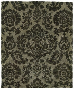 "3'x5' Sphinx Floral Black Damask Flowers 19108 Door Mat - Aprx 3' 6"" x 5' 6"""