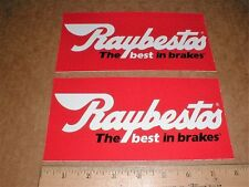 2 Raybestos Brakes contingency new Hot Rod Nascar drag racing Decal Stickers