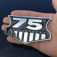 New 75th Anniversary Metal Emblem Badge Decal for Jeep Wrangler Willys Cherokee