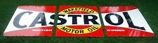 CASTROL WAKFIELD BOWTIE 3 PIECE ENAMEL SIGN (MADE TO ORDER) 1800MM X 900 #11a