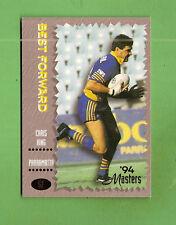 .1994 MASTERS RUGBY LEAGUE CARD #57  CHRIS KING, PARRAMATTA  EELS