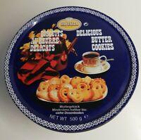 Rare Boîte en métal Danesita Biscuits, delicious , Vintage, décoration, ronde