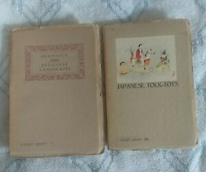 Two Vintage Japanese Tourist Library 1930s/40s Booklets Toys & Landscapes