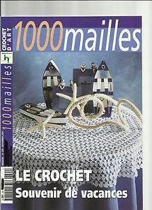 LIVRE CATALOGUE CROCHET DENTELLE DECORATION Catalogue « 1000 mailles »