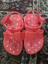 Gap Toddler Coral Polka Dot Jelly Shoes with Bows size 5T