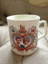 Commemorative collectable mug Prince Charles & Lady Diana marriage 29 July 1981