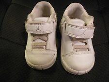 Baby Boys Michael Jordan White Shoes, EUC, Sz 4C, Silver Accents, Team Jordan