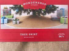 "BURLAP CHRISTMAS TREE SKIRT 54"" HOLIDAY DECOR Wondershop Target"