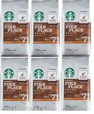 6 PACK Starbucks Medium Pike Place Roast Coffee Ground 12 oz BEST BEFORE 9/2020