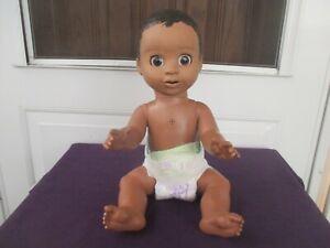"""Luvabella Working Interactive Baby 17"""" Dark Brown Hair & Eyes-Very Nice !"""