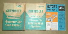1958 1959 1960 Chevrolet ORIG Shop Manual 3pc SET_Bel Air/Biscayne/Delray/Impala