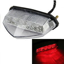 Universal Clear Motorcycle 10 LED Running Brake Stop License Plate Tail Light