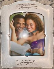 Lenox Opal Innocence Picture Frame (8x10) Love Is Patient - NEW.
