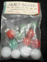 Original Bag of 12 AKRO AGATE Marbles mint