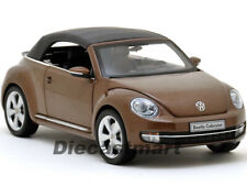 2012 VOLKSWAGEN BEETLE CONVERTIBLE TOFFEE BROWN 1:18 BY KYOSHO 08812 CABRIOLET