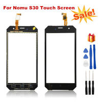 """For 5.5"""" Nomu S30 Black Touch Screen Digitizer Glass Panel Replacement with Tool"""