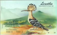 87576 - LESOTHO - POSTAL HISTORY -  STAMP BOOKLET 1981 definitive issue BIRDS