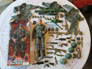 """ACTION MAN BAZOOKA & 12"""" ACTION SOLDIER FIGURES, ACCESSORIES as Photo's LOT 2"""