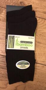 men's Super Soft Bamboo Socks Pack Of 3 Extra Comfort Uk 6 To 11