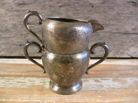 Vintage Silverplate Creamer Sugar Bowl ART S CO Elegant Rustic Tableware #2/3