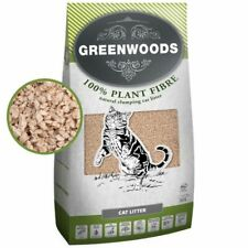 Greenwoods Natural Clumping Biodegradable Flushable Low Dust Cat Litter  60L
