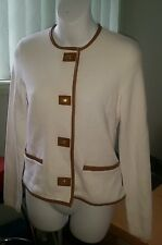 Ralph Lauren white blazer with leather trimming size PS