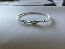 Sterling Silver White Stone Bangle by P.K. - 7.2gms