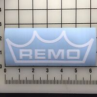"Remo Drums Logo 6"" Wide White Vinyl Decal Sticker - BOGO"