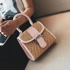 Chic Womens Summer Vintage Straw Bags Beach Tote Shoulder Bag Mini Handbags BI